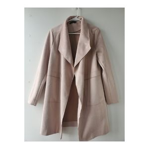 Fashion Nova Faux Suede Blush Coat